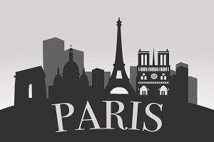 Paris Silhouette Landscape