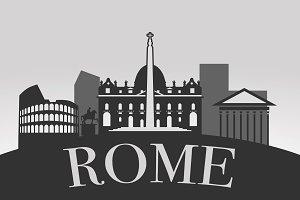 Rome Silhouette Landscape