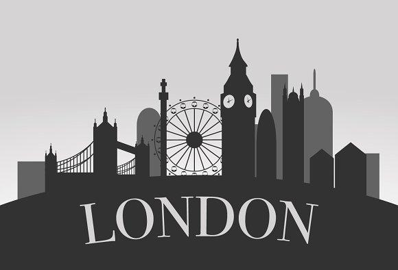 London Silhouette Landscape