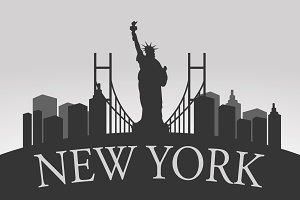 New York Silhouette Landscape