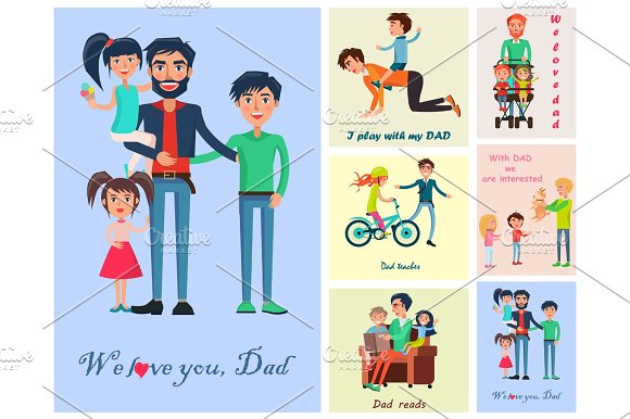 Happy Life Moments With Father Pictures Poster