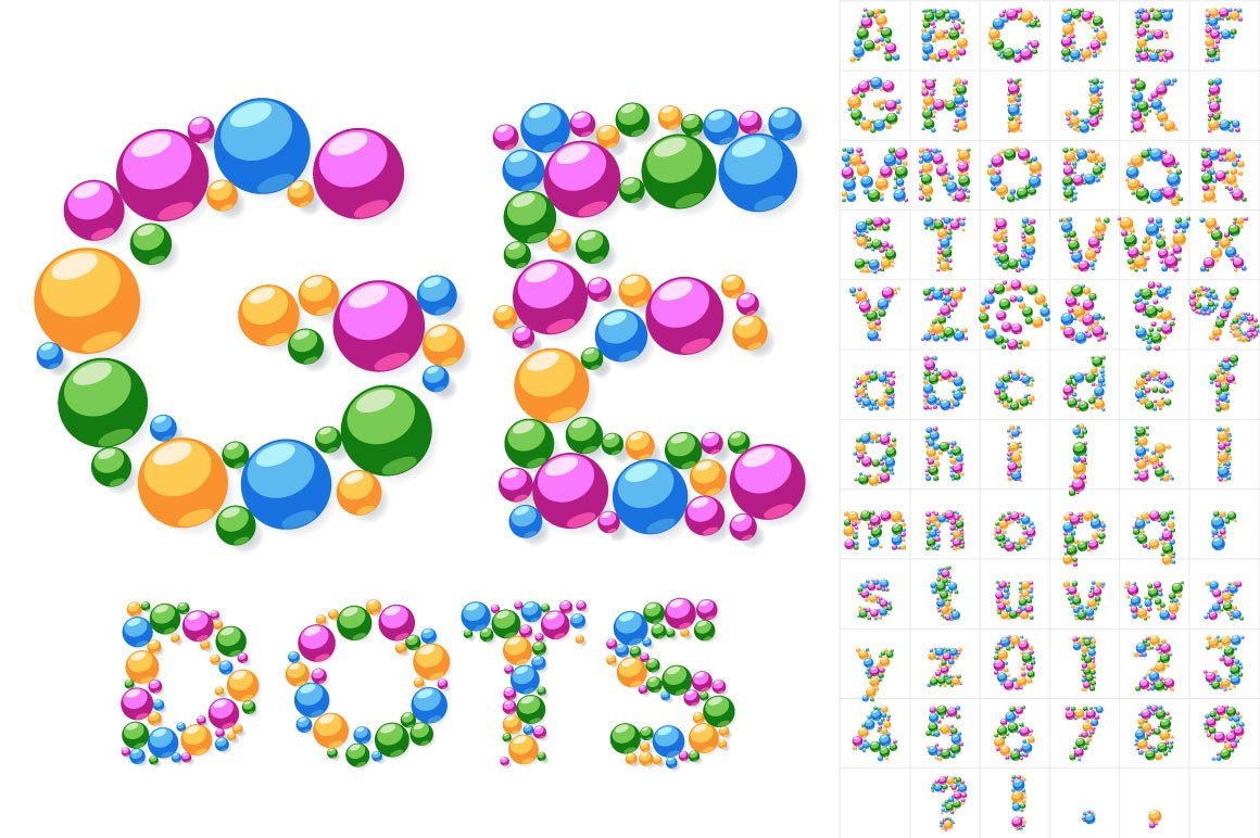 font-dots-q-  D Alphabet Letters Templates Printable Free on