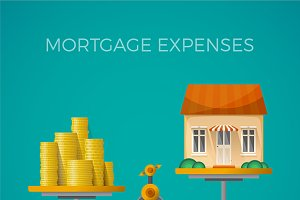 Mortgage expenses concept