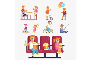 Entertaining Children in Cinema, Riding Bike etc