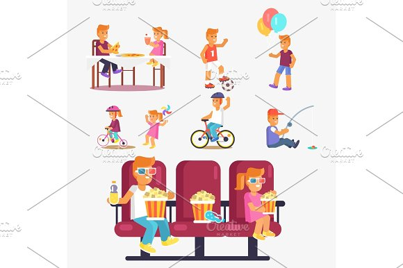 Entertaining Children In Cinema Riding Bike Etc