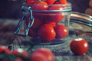Jar of tomatoes