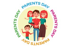 Parents' Day Poster with Circle Inscription