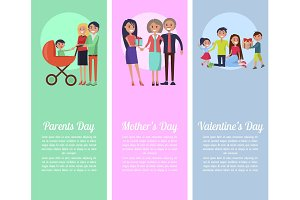 Poster about Parents', Mother's, Valentine's Days