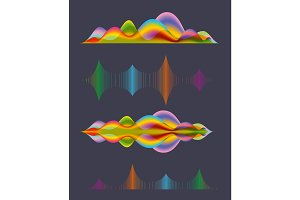 Abstract sound wave design elements