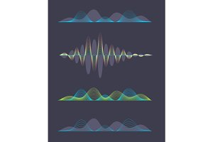 Colored sound waves design