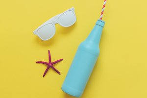 bottle and sunglasses
