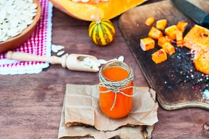 Pumpkin juice with spices