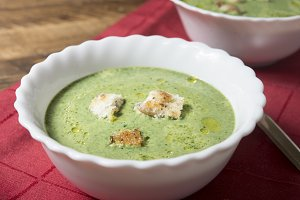 Soup of spinach