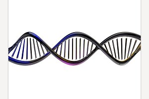 DNA model. 3D rendering