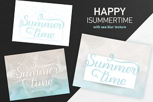 SET 5 / Lettering Summertime / sea