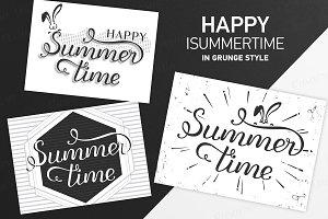 SET 5 / Lettering grunge Summertime