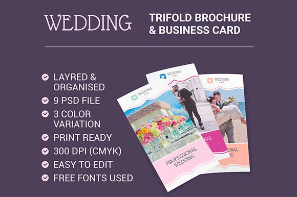Trifold brochure Business Card in Brochure Templates