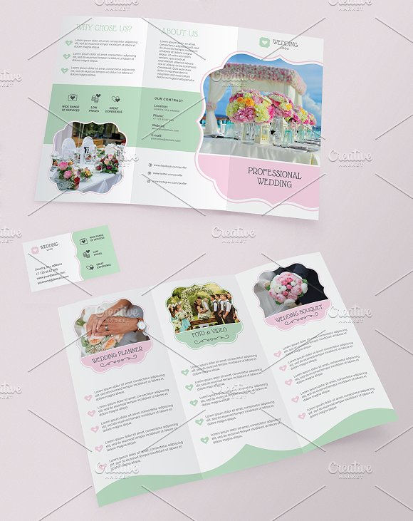 Trifold brochure Business Card in Brochure Templates - product preview 1