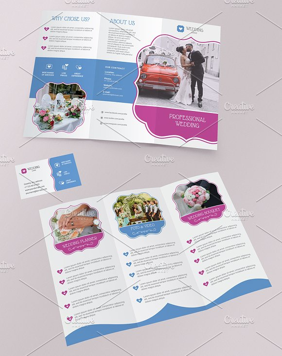 Trifold brochure Business Card in Brochure Templates - product preview 2