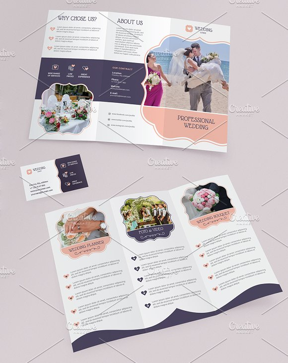 Trifold brochure Business Card in Brochure Templates - product preview 3