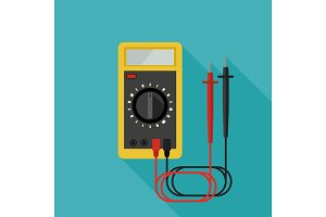 Multimeter flat icon