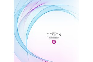 Abstract vector background, blue and purple wavy