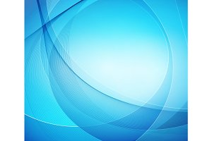 Abstract blue shiny vector template background