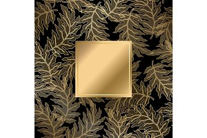 Abstract vintage damask pattern