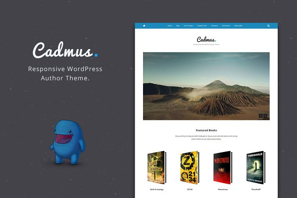 WordPress eCommerce Themes: Olympus Themes - Cadmus - WordPress Theme for Authors