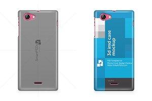 Xperia J ST26i 3d Phone Case Mockup