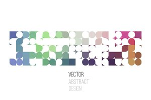 Bright abstract retro design. Vector background