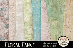 Floral Fancy Digital Paper Pack