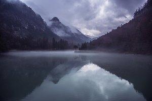 Zavrsnica lake on a gloomy day