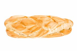 Rustic bread isolated on white