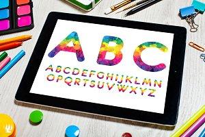 Iridescent font