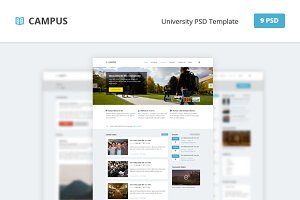 Campus - University PSD Template