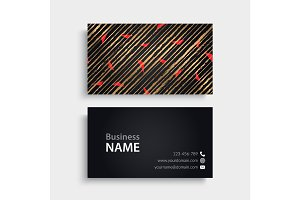 Business Card. Vintage decorative elements
