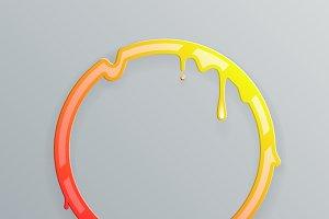Hot colors melting frame