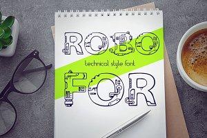 Robofor_mechanical engineering font