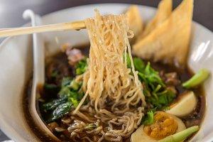noodles or Japanese ramen soup