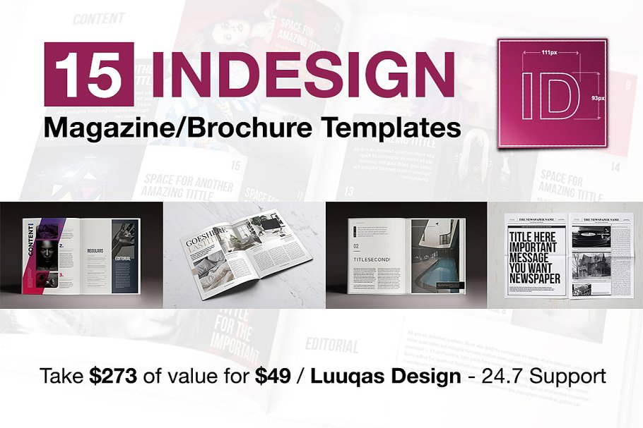 15 Indesign Magazines Brochures Magazine Templates Creative Market