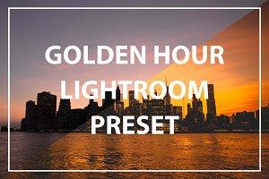 Golden Hour Lightroom Preset