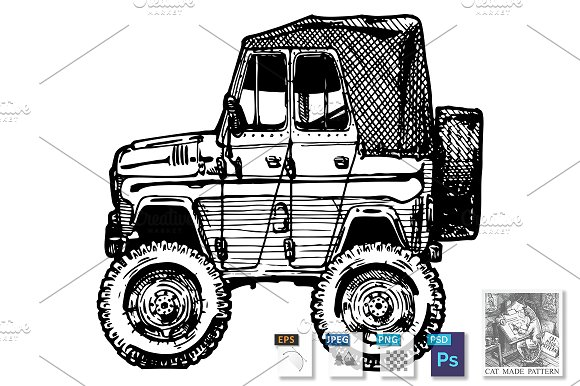 Car In Comics Style