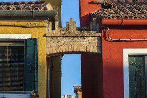 Houses on the island of Burano
