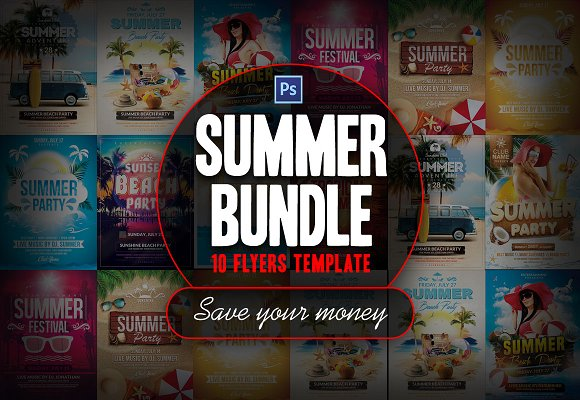 Summer Bundle Flyer Template