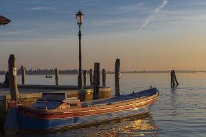 Sunset landscape in Venice