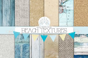 BEACH TEXTURES digital paper