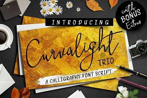 Curvalight Font Trio and Extras