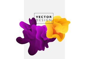 Vector abstract color cloud.
