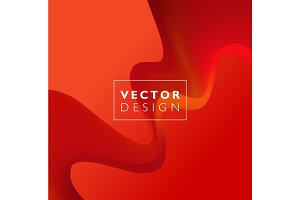 Red vector Template Abstract background with curves lines and shadow. For flyer, brochure, booklet,websites design